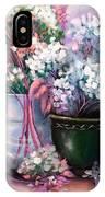 Hydrangeas Still Life Pink IPhone Case