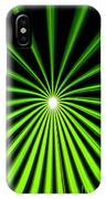 Hyperspace Electric Green Portrait IPhone Case