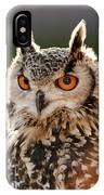 Hypnoteyes  Eurasian Eagle Owl IPhone Case