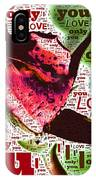 I Love You Only Abstract IPhone Case