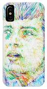 Ian Curtis Portrait IPhone Case