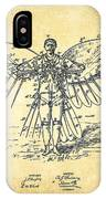 Icarus Flying Machine Patent Drawing-vintage IPhone Case