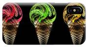 Ice Cream Cones 5 Flavors IPhone Case