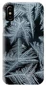 Ice-flowers Frost Pattern Tracery On Frost Window IPhone Case