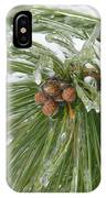 Iced Over Pine Cones IPhone Case