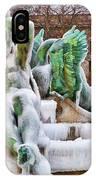 Iced Swann Fountain IPhone Case