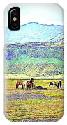 the Icelandic summer scene contains almost everything  IPhone Case