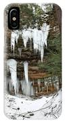 Icicle Formations In The Upper Peninsula IPhone Case