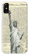 Icon Of Freedom IPhone Case