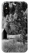Iconic Cabin  Black And White IPhone Case