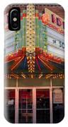 Ideal Theater In Clare Michigan IPhone Case