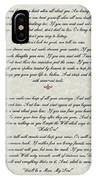 If By Rudyard Kipling Typography On Parchment IPhone Case