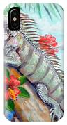 Iguana Hibiscis IPhone Case