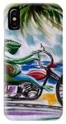 Iguana Rider IPhone Case