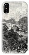 Ilkley Bridge, Uk. Ilkley Is A Spa Town And Civil Parish IPhone Case