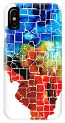 Illinois - Map Counties By Sharon Cummings IPhone Case