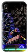 Illuminated Ferris Wheel With Neon IPhone Case