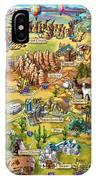 Illustrated Map Of Arizona IPhone X Case