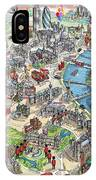 Illustrated Map Of London IPhone Case