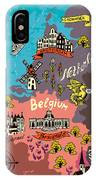 Illustrated Map Of The Netherlands IPhone Case