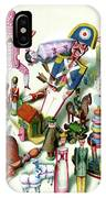 Illustration Of A Group Of Children's Toys IPhone X Case
