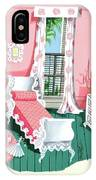Illustration Of A Victorian Style Pink And Green IPhone X Case