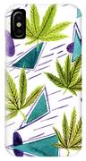 Illustrations Of The Cannabis Leaf IPhone Case