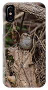 Immature White-throated Sparrow IPhone Case