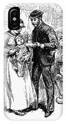 Immigrant Inspection, 1883 IPhone Case