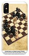 Immortal Chess - Byrne Vs Fischer 1956 - Moves IPhone Case