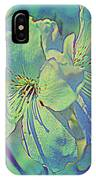 Impressionistic Blue Blossoms IPhone Case