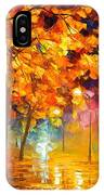Improvisation Of Trees - Palette Knife Oil Painting On Canvas By Leonid Afremov IPhone Case