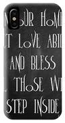 In Our Home Let Love Abide IPhone Case
