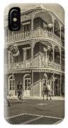 In The French Quarter Sepia IPhone Case