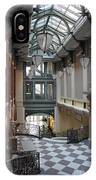 In The Hallway - Peabody Library IPhone Case