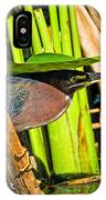 In The Shade Little Green Heron IPhone Case