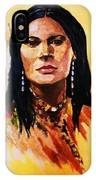 Maiden In White Feather And Beads IPhone Case