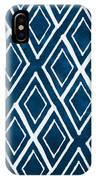 Indgo And White Diamonds Large IPhone Case