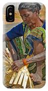 Indian Aged Woman Working IPhone Case