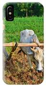 Indian Farmer Plowing With Bulls IPhone Case