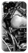 Indian Motorcycle In French Quarter-bw IPhone Case