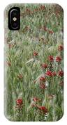 Indian Paintbrush And Foxtail Barley IPhone Case