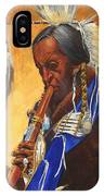 Indian Playing Flute IPhone Case
