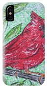 Indiana Cardinal Redbird IPhone Case