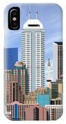 Indianapolis Indiana Skyline IPhone Case