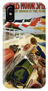 Indianapolis Motor Speedway - Vintage Lithograph IPhone Case