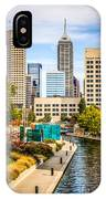 Indianapolis Skyline Picture Of Canal Walk In Autumn IPhone Case