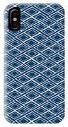 Indigo And White Small Diamonds- Pattern IPhone Case