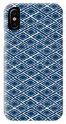Indigo And White Small Diamonds- Pattern IPhone Case