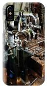 Industrial Gear Cutting Machine IPhone Case